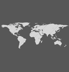 Diagonal lines world map vector