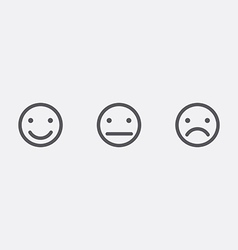 Different smiley faces icons vector image
