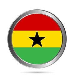 Ghana flag button vector