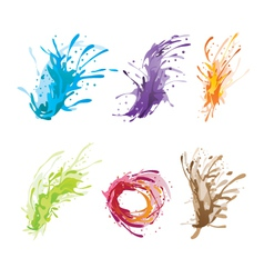 Ink color brush vector