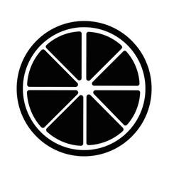 isolated half cut lemon vector image