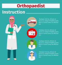 Medical equipment instruction for orthopaedist vector