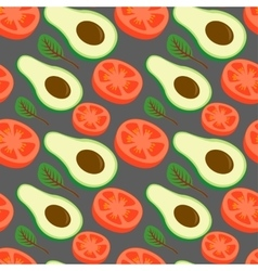 Salad from vegetables vegan pattern Tomato vector image