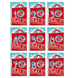 Sale discounts vector image vector image
