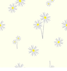 Seamless pattern daisy flower vector image vector image