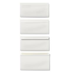 set of white dl envelopes vector image vector image