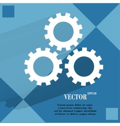 Settings Sign web icon on a flat geometric vector image