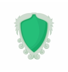 Shield with ornaments icon cartoon style vector