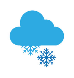 snow storm weather isolated icon vector image