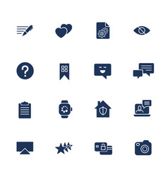 Universal web icons to use in web and mobile ui vector