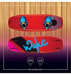 Wakeboard vector