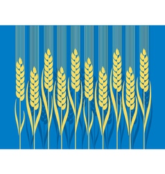 wheat in Art Nouveau style vector image vector image