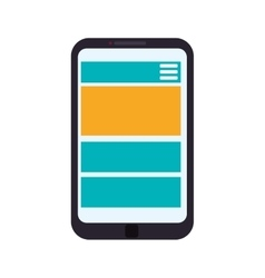 Smartphone technology gadget display icon vector