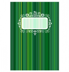 Copybook cover with floral ornament vector