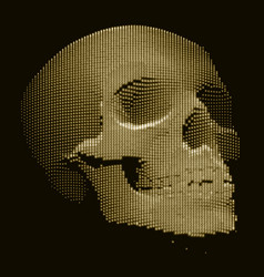 Skull constructed with random numbers vector