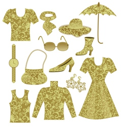 Clothing and accessories vector