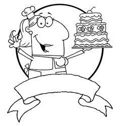Cartoon baker vector