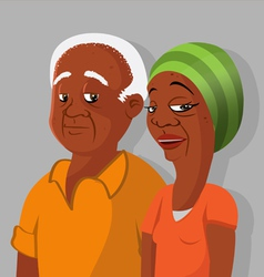 Black elderly couple vector