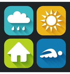 Modern flat icons for web and mobile applications vector