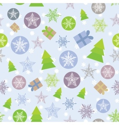 Seamless background merry christmas card green vector