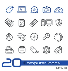 Computer devices outline series vector