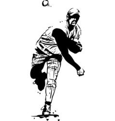 baseball pitcher vector image