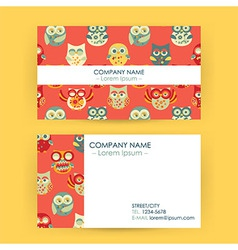 Business card with owls vector