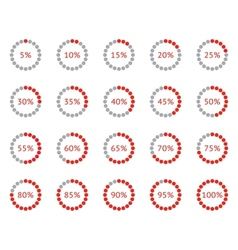loader progress vector image