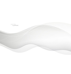Abstract waves White background vector image