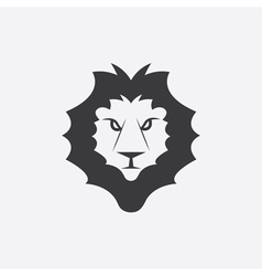 Lion head design template vector