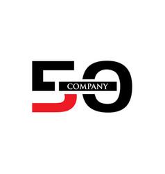 50 letter logo vector image vector image