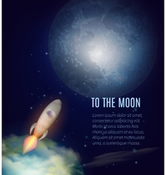 Moon exploration poster vector