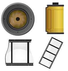 Set of objects for a photo vector