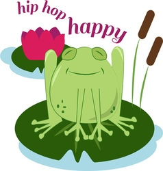 Hip hop happy vector