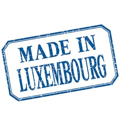 Luxembourg - made in blue vintage isolated label vector