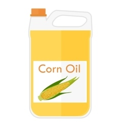 A bottle with corn oil vector