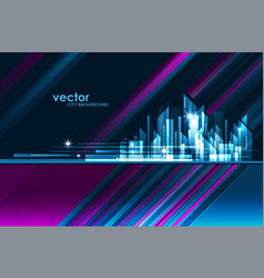 abstract night city skyline vector image vector image