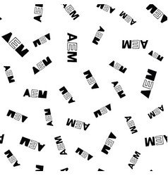 Aem seamless pattern lettering vector