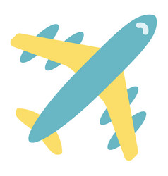 Airplane flat icon travel and transport aircraft vector
