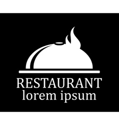 black restaurant menu icon vector image vector image