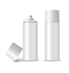 Blank white spray bottle template vector
