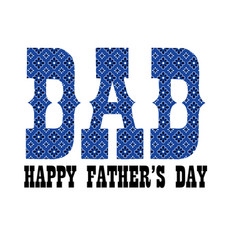 Blue bandana dad fathers day vector