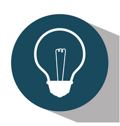 Bulb light education icon vector