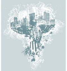 city of angels illustration vector image vector image