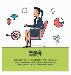 Colorful infographic of corporate business with vector