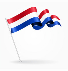 dutch pin wavy flag vector image