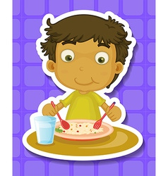 Eating vector image vector image