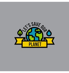 Environment day green concept with globe vector image vector image