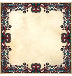 flower frame design on grunge background vector image