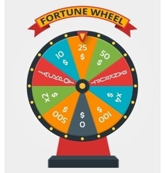 Fortune wheel in flat style vector